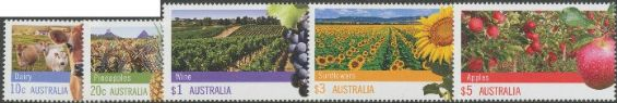 AUS SG3742-3 & 3748-50 Farming Australia part 1 set of 5